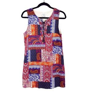 Glamorous Colorful Patchwork Printed Shift Dress